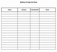 Email List Signup Sheet 58 Sign Up Sheets Free Amp Premium Templates