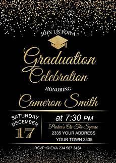 Graduation Celebration Invitations Graduation Celebration Invitation Black Background