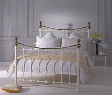 obc selkirk 4ft small glossy ivory metal bed frame