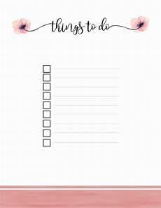 Things To Do Template Printable Printable To Do List