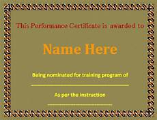 Top Performer Certificate Template 10 Performance Certificate Templates Free Printable