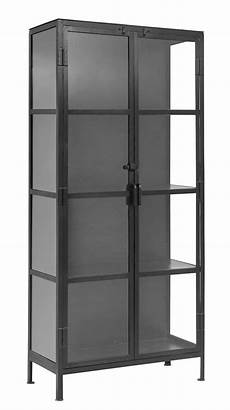 black iron and glass cabinet by the forest co