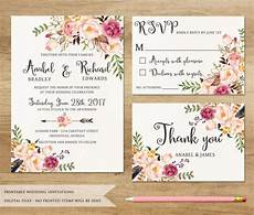 Download And Print Wedding Invitations Free Floral Wedding Invitation Printable Wedding Invitation