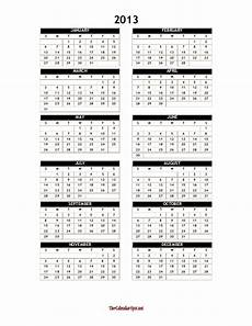 Yearly Calendar Template Word 2013 Yearly Calendar Template Word One Page