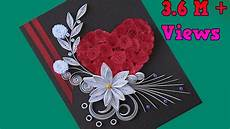 Flower Design For Cards How To Make Beautiful Flower With Heart Design Greeting