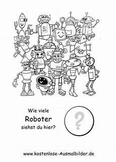 Roboter Malvorlagen Zum Ausdrucken Zum Ausdrucken Z 228 Hlen Lernen Wie Viele Roboter Lernspiele