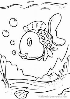 malvorlage bunter fisch tiere ausmalbilder kostenlos