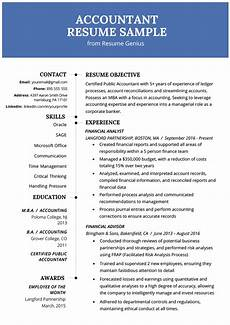 Resume For Account Accountant Resume Sample And Tips Resume Genius