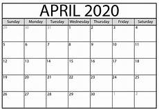 print calendar april 2020 printable monthly calendar april 2020 printable calendar
