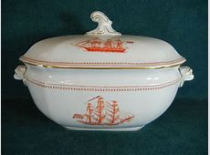 Copeland Spode Red Trade Winds W128 Large Soup Tureen with