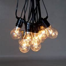 Big Clear Light Bulbs Outdoor Warm White Festoon Lights Connectable