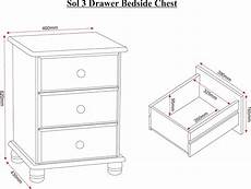 seconique sol 3 drawer bedside chest in antique pine