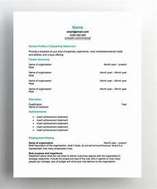 Cv Template Nz Free Resume Templates