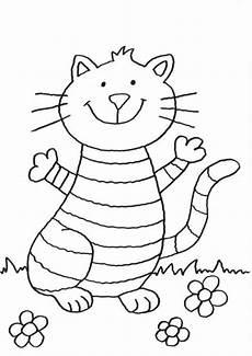 kostenlose malvorlage katzen lustige katze ausmalen zum