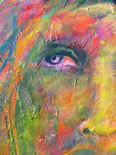 Acrylic Abstract Painting Marlene Brady Textured Abstract Face Paintings