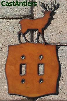 Deer Light Switch Covers Deer Double Light Switch Plate Cover Metal Western Rustic