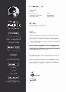 Clean Resume Template Word Free Clean Resume Template Amp Cover Letter In Word Psd
