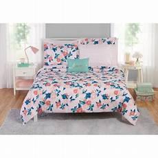 mainstays blush garden floral bed in a bag walmart