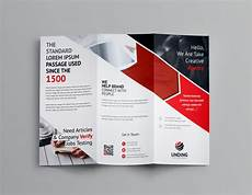 Template For Brochure Free Arrow Corporate Tri Fold Brochure Template 001162