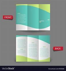 3 Column Brochure Tri Fold Brochure Design Royalty Free Vector Image