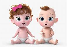 Cartoon Babies Pictures 3d Cartoon Twin Baby Rigged Cgtrader