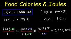 Calorie Conversion Chart Joules Food Calories Amp Kilojoules Unit Conversion With