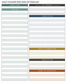 Todo Calendar Planner Free Printable Daily Calendar Templates Smartsheet