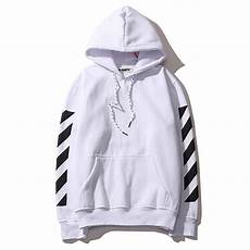 Black And White Designer Hoodie Off White Hoodie Bluza Virgil Abloh Striped Panel Dope Store