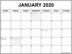 2020 Printable Monthly Calendar With Holidays January 2020 Calendar With Holidays