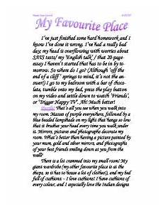 My Favourite Place Essay My Favourite Place Gcse English Marked By Teachers Com