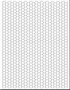 Printable Hex Grid Graph And Handwriting Practice Paper Template Document Hub