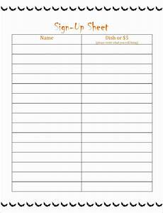 Sign Up Chart 8 Potluck Sign Up Sheet Template Excel Exceltemplates