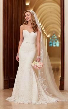 lace satin wedding dresses stella york