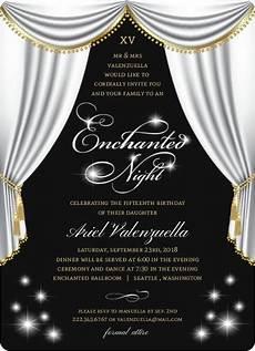 Elegant Party Invites Elegant Enchanted Night Birthday Invitation Quinceanera