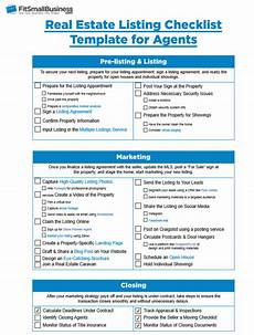 Real Estate Inspection Checklist Real Estate Agent Checklist For Listings