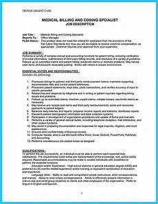 Medical Billing Duties Exciting Billing Specialist Resume That Brings The Job To You