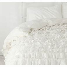 ruffle duvet cover 1000 tc cotton solid ivory