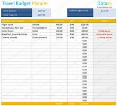 Travel Budget Spreadsheet Travel Budget Template Budget Calculator Dotxes
