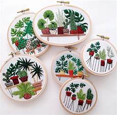 plants succulents cacti palms green embroidery paper