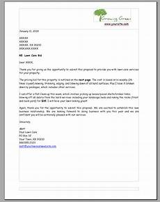 Lawn Care Proposal Template Lawn Care Bid Example Page1 Lawn Care Business Marketing