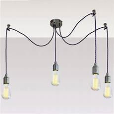 Multi Cord Light Fitting Large Four Suspension Light Fitting