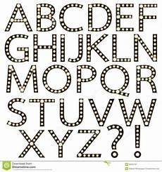 Broadway Fonts Free Download Set Of Black Broadway Light Bulb Alphabet Stock