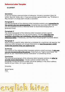 How To Use A Letter Of Recommendation Reference Letter Template