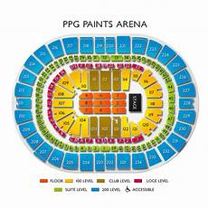 Seating Chart Of Ppg Paints Arena Ppg Paints Arena Concerts Seating For Live Music In