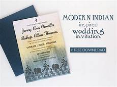 Download And Print Wedding Invitations Free Free Diy Modern Indian Wedding Invitation Download Amp Print