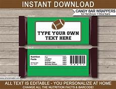 Hershey Candy Bar Wrappers Football Hershey Candy Bar Wrappers Personalized Candy Bars