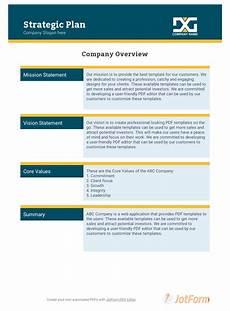 Simple Strategic Plan Template Strategic Plan Template Pdf Templates Jotform