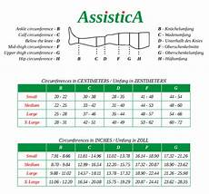 Activa Compression Socks Size Chart 18 21 Mmhg Assistica 174 Medical Compression