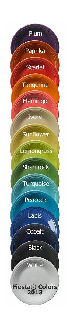 Fiesta Dishes Color Chart Fiesta 174 Dinnerware And Dishes New And Retired Colors