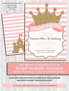 Pink Party Invitations Princess Party Invitations Pink Amp Gold Wonderbash